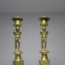Antiquitäten - PAREJA DE CANDELABROS CON ATLANTES SIGLO XIX - 120265103