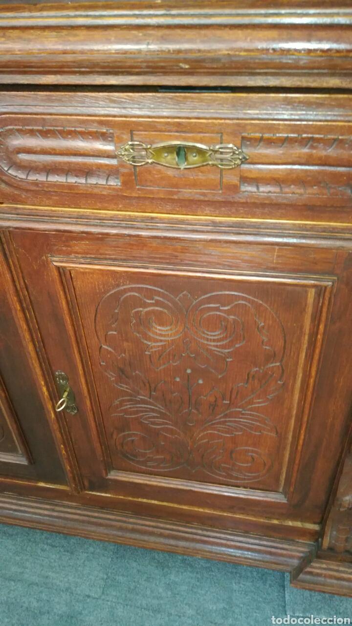 Antigüedades: Aparador de madera de roble muy bonito - Foto 2 - 120279890