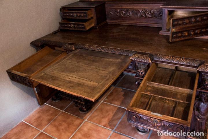 Antigüedades: Mesa despacho del remordimiento en óptimas condiciones - Foto 5 - 120288019