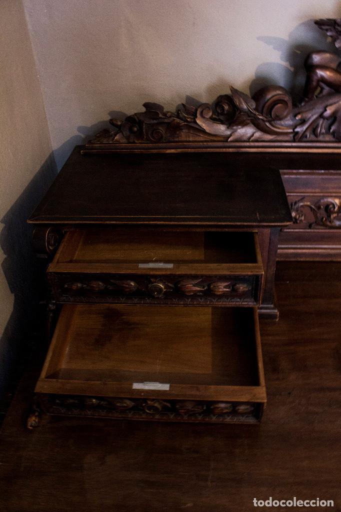 Antigüedades: Mesa despacho del remordimiento en óptimas condiciones - Foto 6 - 120288019