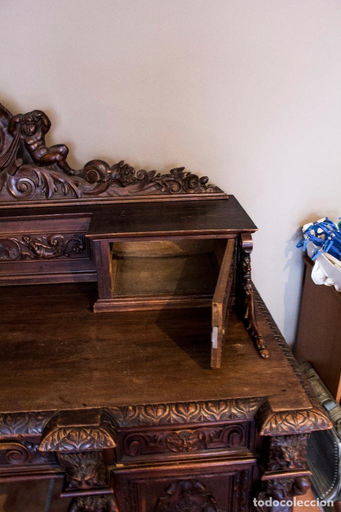 Antigüedades: Mesa despacho del remordimiento en óptimas condiciones - Foto 7 - 120288019