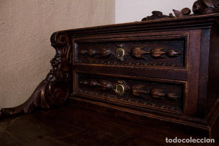 Antigüedades: Mesa despacho del remordimiento en óptimas condiciones - Foto 8 - 120288019