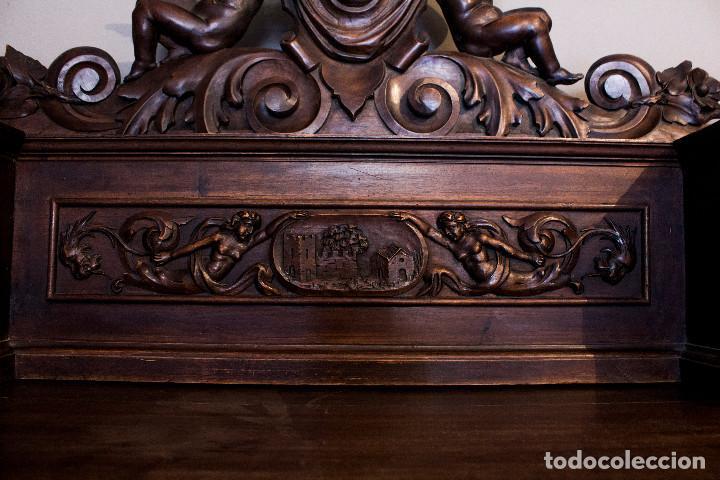 Antigüedades: Mesa despacho del remordimiento en óptimas condiciones - Foto 10 - 120288019