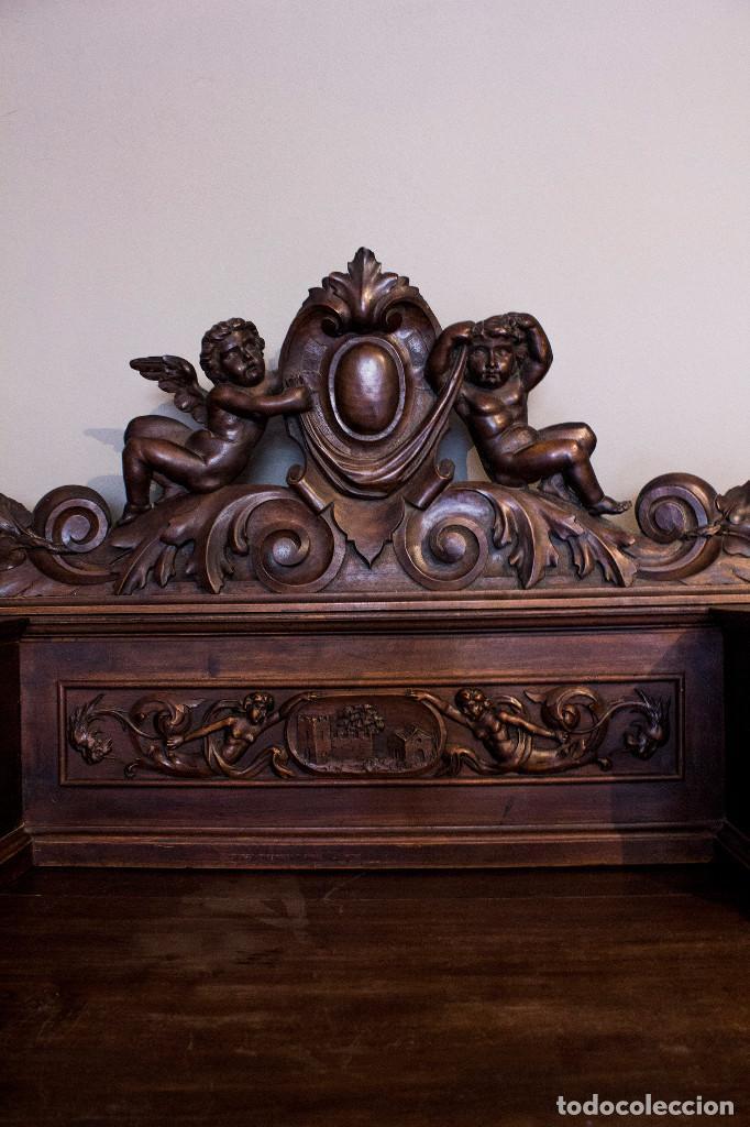 Antigüedades: Mesa despacho del remordimiento en óptimas condiciones - Foto 11 - 120288019