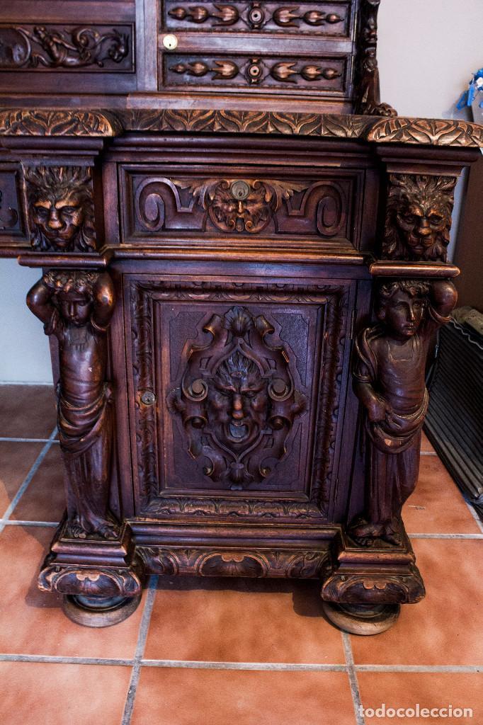 Antigüedades: Mesa despacho del remordimiento en óptimas condiciones - Foto 12 - 120288019