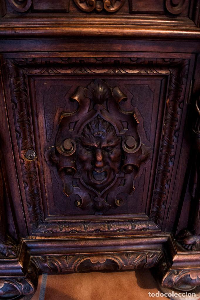 Antigüedades: Mesa despacho del remordimiento en óptimas condiciones - Foto 13 - 120288019