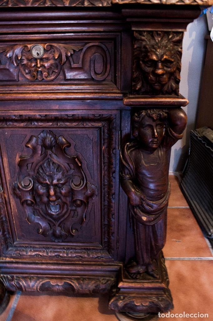 Antigüedades: Mesa despacho del remordimiento en óptimas condiciones - Foto 14 - 120288019