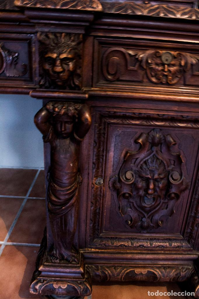 Antigüedades: Mesa despacho del remordimiento en óptimas condiciones - Foto 15 - 120288019