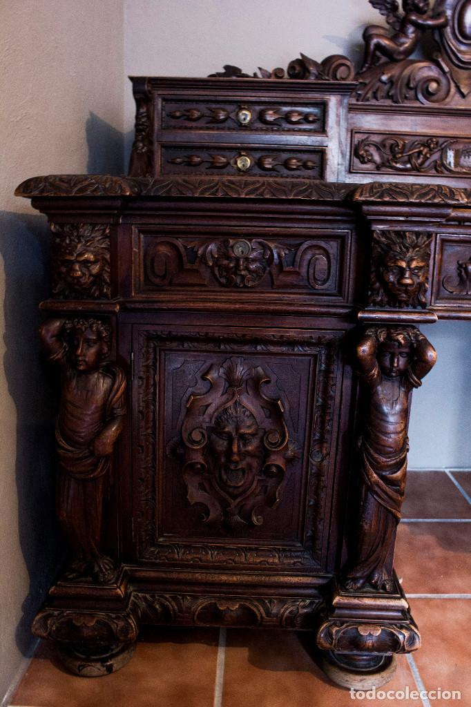 Antigüedades: Mesa despacho del remordimiento en óptimas condiciones - Foto 16 - 120288019