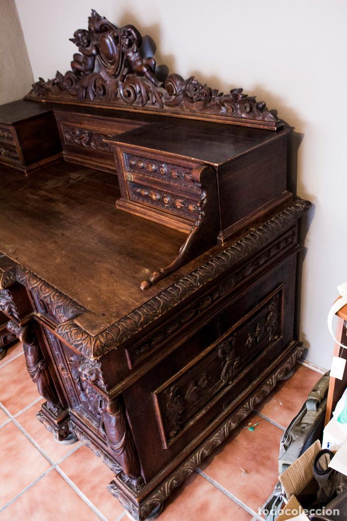 Antigüedades: Mesa despacho del remordimiento en óptimas condiciones - Foto 19 - 120288019