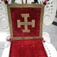 Antigüedades: PALIA CUBRE CALIZ DE TERCIOPELO. Lote 120303159