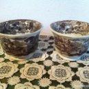 Antigüedades: PAREJA DE TAZAS DE CAFE DE PIKMAN (CARTUJA DE SEVILLA) DE FINALES DEL XIX. Lote 120311851