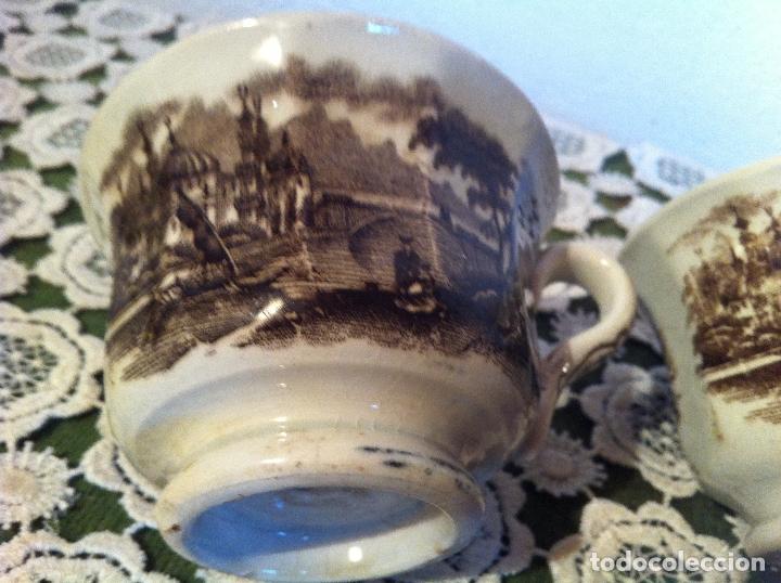 Antigüedades: PAREJA DE TAZAS DE CAFE DE PIKMAN (CARTUJA DE SEVILLA) DE FINALES DEL XIX - Foto 3 - 120311851