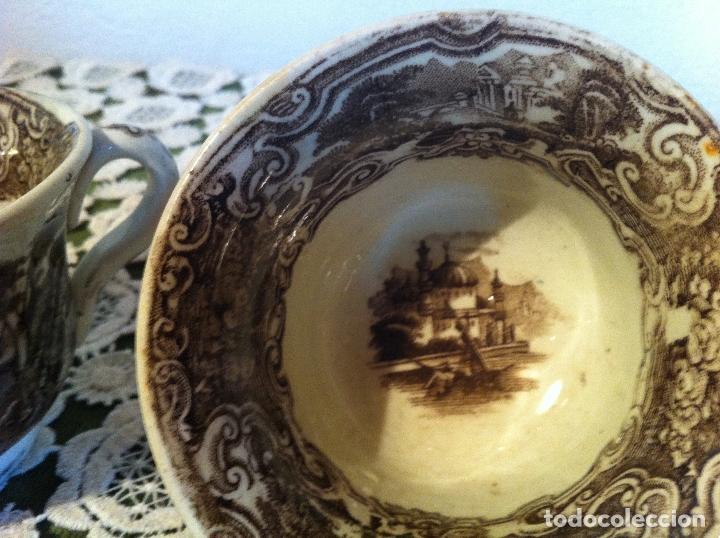 Antigüedades: PAREJA DE TAZAS DE CAFE DE PIKMAN (CARTUJA DE SEVILLA) DE FINALES DEL XIX - Foto 4 - 120311851