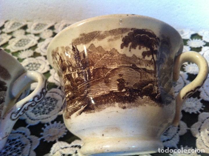 Antigüedades: PAREJA DE TAZAS DE CAFE DE PIKMAN (CARTUJA DE SEVILLA) DE FINALES DEL XIX - Foto 5 - 120311851