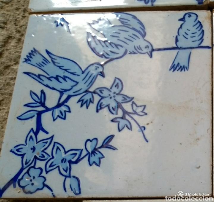 **ANTIGUO AZULEJO VALENCIANO DE PRICIPIO DEL SIGLO XX (20/20 CM.)** (Antigüedades - Porcelanas y Cerámicas - Azulejos)