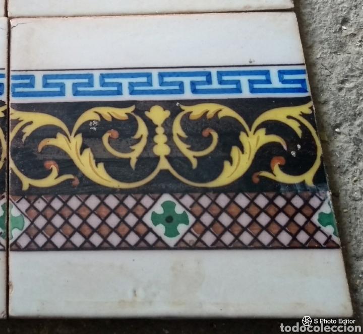 **ANTIGUO AZULEJO VALENCIANO PRINCIPIO DEL SIGLO XX (20/20 CM)** (Antigüedades - Porcelanas y Cerámicas - Azulejos)