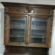 Antigüedades: APARADOR DE MADERA DE ROBLE MACIZO. Lote 120317879