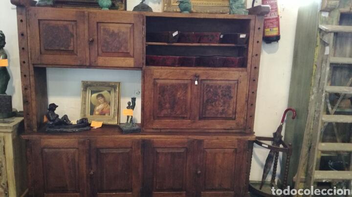 Antigüedades: Librería de madera de roble macizo muy bonita y pesada - Foto 2 - 120322647