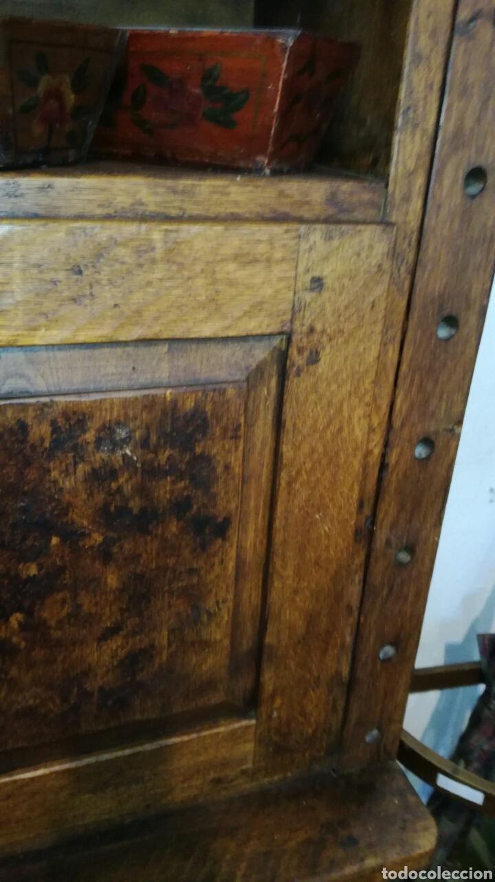 Antigüedades: Librería de madera de roble macizo muy bonita y pesada - Foto 3 - 120322647