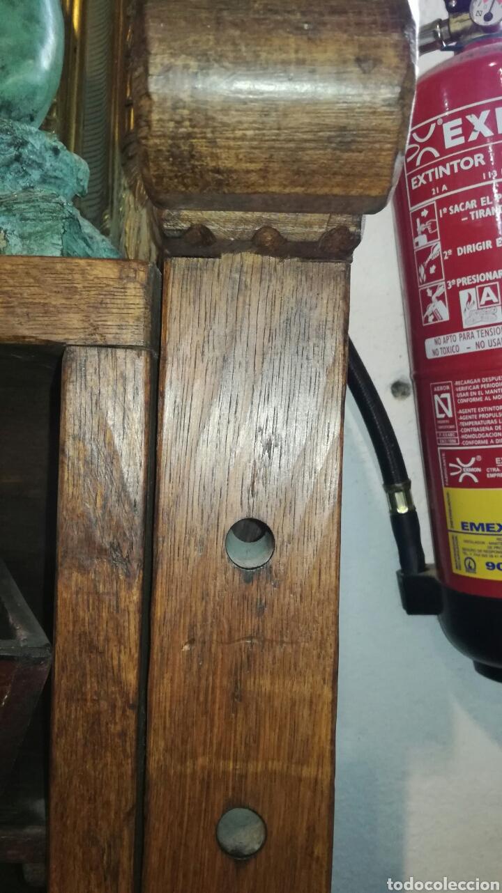 Antigüedades: Librería de madera de roble macizo muy bonita y pesada - Foto 4 - 120322647