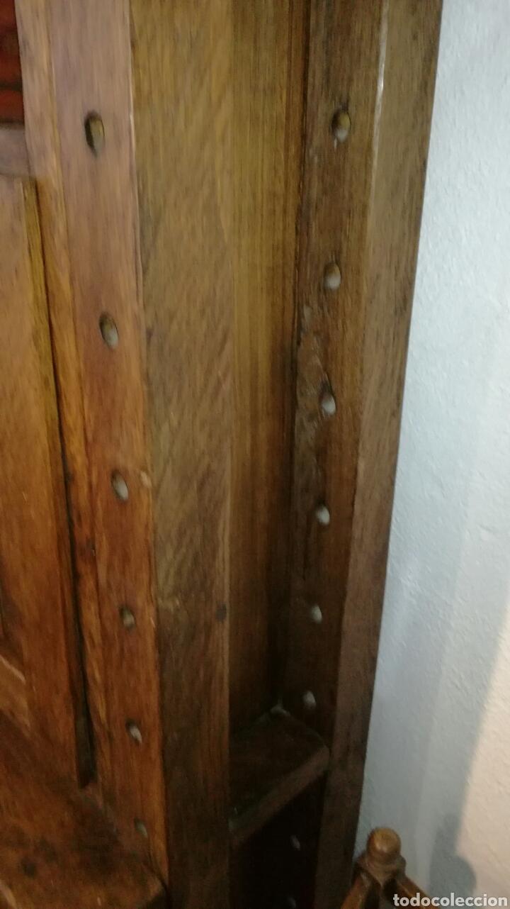 Antigüedades: Librería de madera de roble macizo muy bonita y pesada - Foto 5 - 120322647