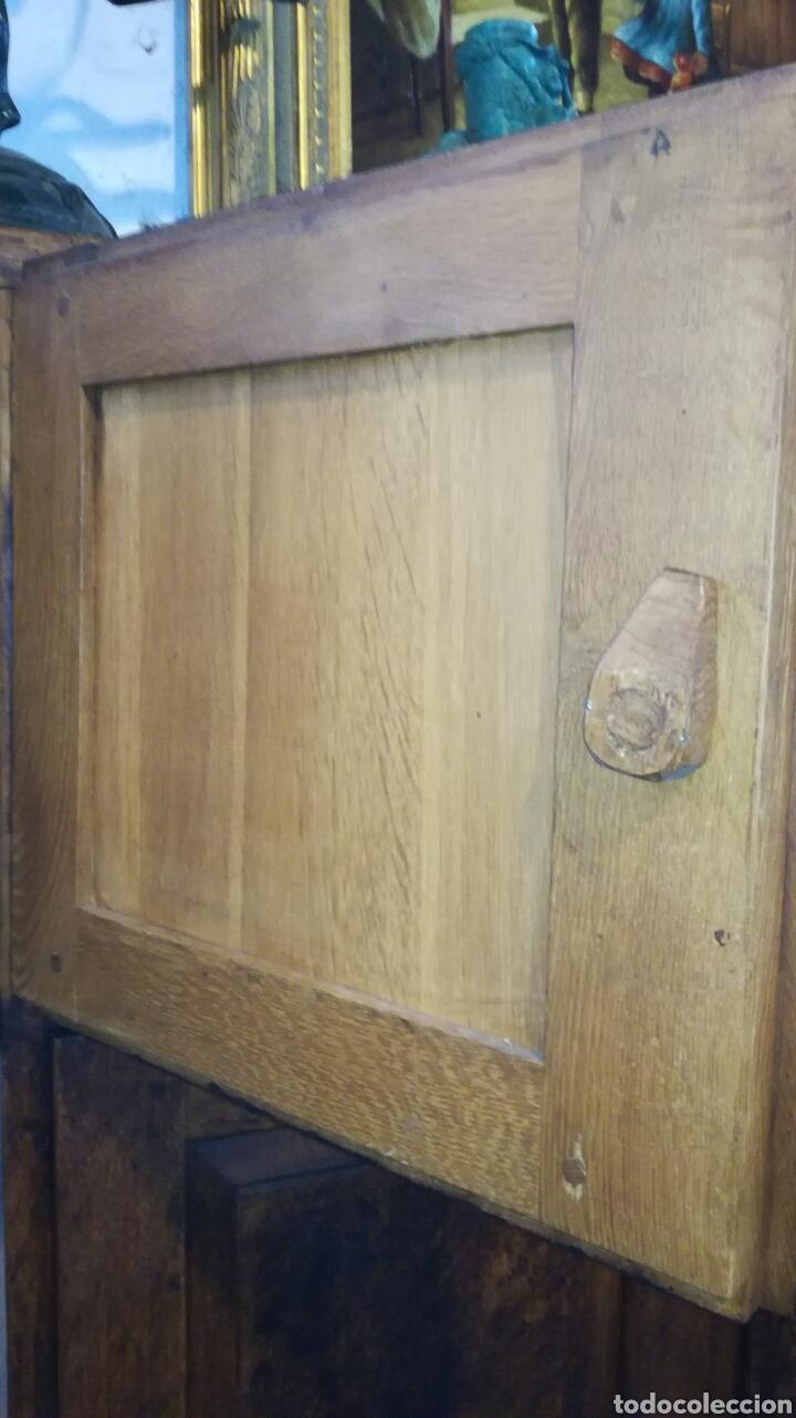 Antigüedades: Librería de madera de roble macizo muy bonita y pesada - Foto 7 - 120322647