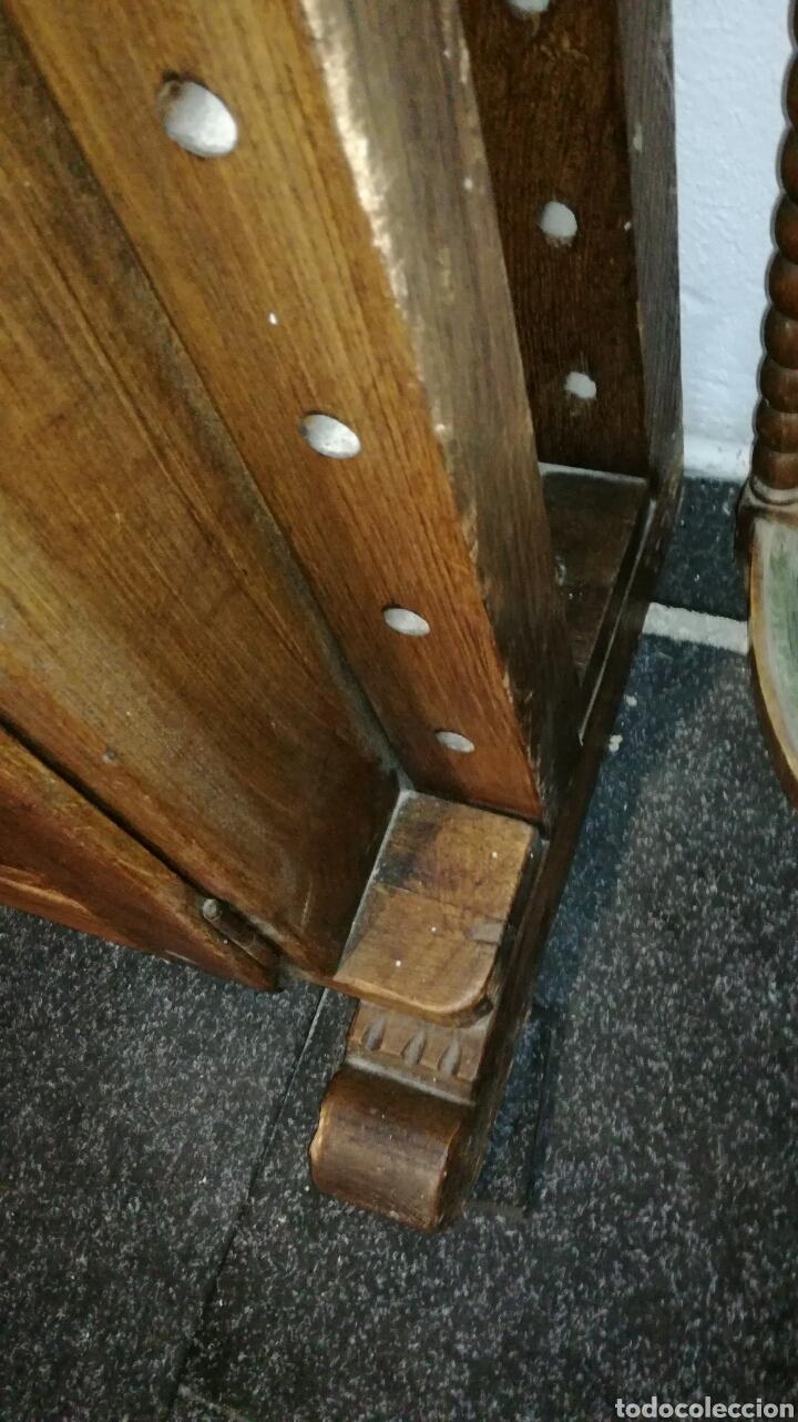 Antigüedades: Librería de madera de roble macizo muy bonita y pesada - Foto 8 - 120322647