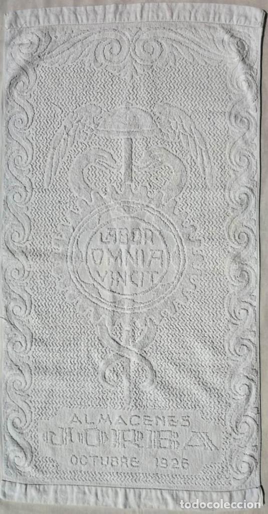 TOALLA ALMACENES JORBA OCTUBRE 1926, RARÍSIMA. VER FOTOS (Antigüedades - Hogar y Decoración - Otros)