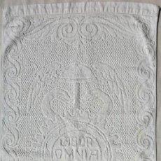 Antigüedades: TOALLA ALMACENES JORBA OCTUBRE 1926, RARÍSIMA. VER FOTOS. Lote 120323519