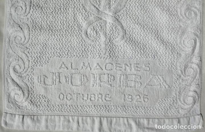Antigüedades: TOALLA ALMACENES JORBA OCTUBRE 1926, RARÍSIMA. VER FOTOS - Foto 2 - 120323519