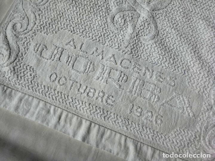 Antigüedades: TOALLA ALMACENES JORBA OCTUBRE 1926, RARÍSIMA. VER FOTOS - Foto 4 - 120323519