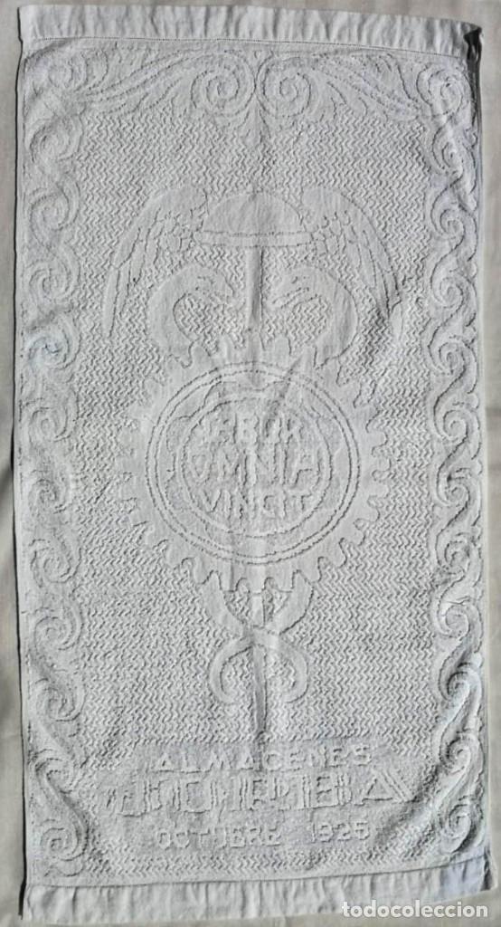 Antigüedades: TOALLA ALMACENES JORBA OCTUBRE 1926, RARÍSIMA. VER FOTOS - Foto 6 - 120323519