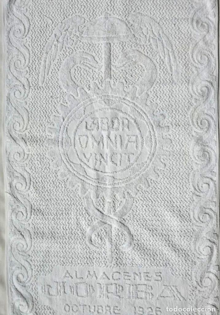 Antigüedades: TOALLA ALMACENES JORBA OCTUBRE 1926, RARÍSIMA. VER FOTOS - Foto 7 - 120323519