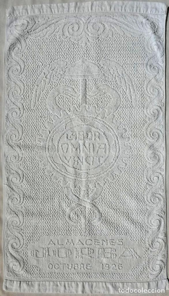 Antigüedades: TOALLA ALMACENES JORBA OCTUBRE 1926, RARÍSIMA. VER FOTOS - Foto 8 - 120323519
