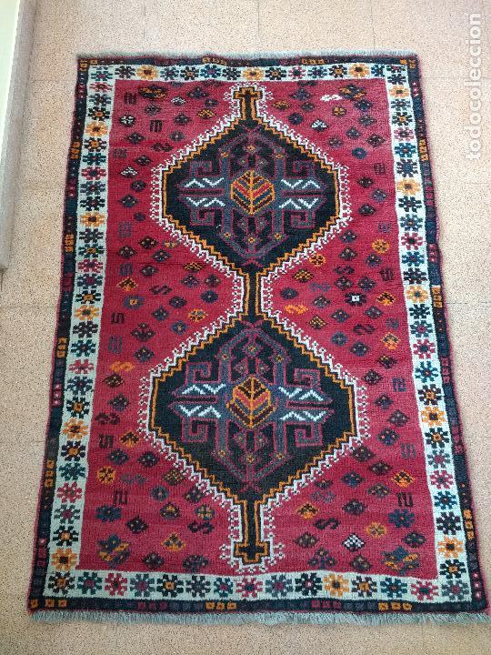 ALFOMBRA PERSA IRÁN. HAMEDAN. LANA 100%. 145X99 CM.ENVÍO GRATIS SOLO PENÍNSULA. (Antiques - Home and Decoration - Old Carpets)