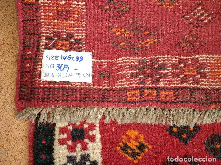 Antiques: Alfombra Persa Irán. Hamedan. Lana 100%. 145X99 cm.Envío Gratis solo Península. - Foto 6 - 120325443