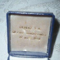 Antigüedades: ESTUCHE JOYERIA FRANCÉS (AÑO 1968; CONMEMORATIVO). Lote 120326831