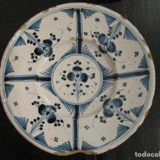 Antigüedades: PLATO CATALAN DEL SIGLO XVIII - SERIE CIRERETAS. Lote 120345583