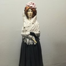 Antigüedades: FIGURA MARQUESA DE SOLANA PORCELANA ALGORA. Lote 120345587