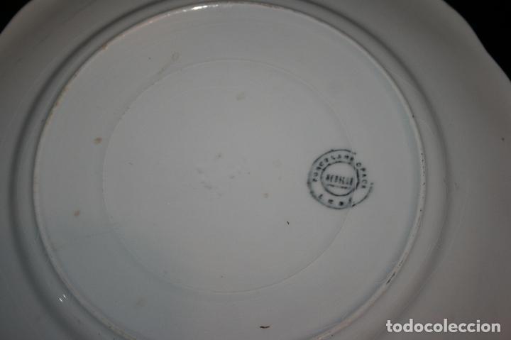 Antigüedades: Plato Viva la República,sello porcelana opaca Sevilla. 24 cms. diámetro. muy bien conservado. - Foto 2 - 120368847