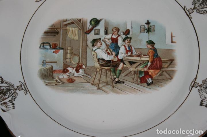 Antigüedades: Plato Viva la República,sello porcelana opaca Sevilla. 24 cms. diámetro. muy bien conservado. - Foto 3 - 120368847
