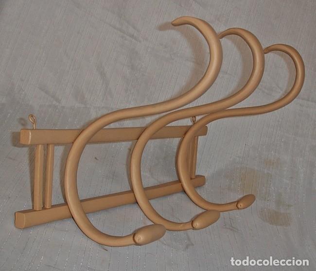 Antigüedades: PERCHERO DE PARED ANTIGUO - Foto 2 - 120384043