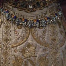Antigüedades: GRAN FAJIN COLGANTE CUELLO COLLAR GARGANTILLA BROCHE FACETADOS VIRGEN ROSTRILLO BROCHES FIESTA LEER. Lote 120402983