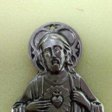 Antigüedades: CHAPA O PLACA PUERTA SAGRADO CORAZÓN DE JESÚS. Lote 148466641