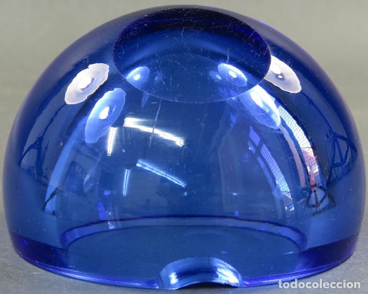 Antigüedades: Cenicero de cristal prensado Murano azul años 60 - Foto 5 - 120434391