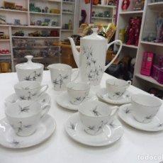 Antigüedades: OXFORD JUEGO CAFÉ COMPLETO 6 SERVICIOS MADE IN SPAIN. Lote 120437411