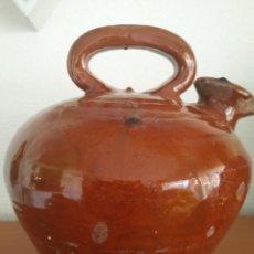 Antigüedades: ACEITERA CATALANA CERAMICA VIDRIADA. Lote 120450980
