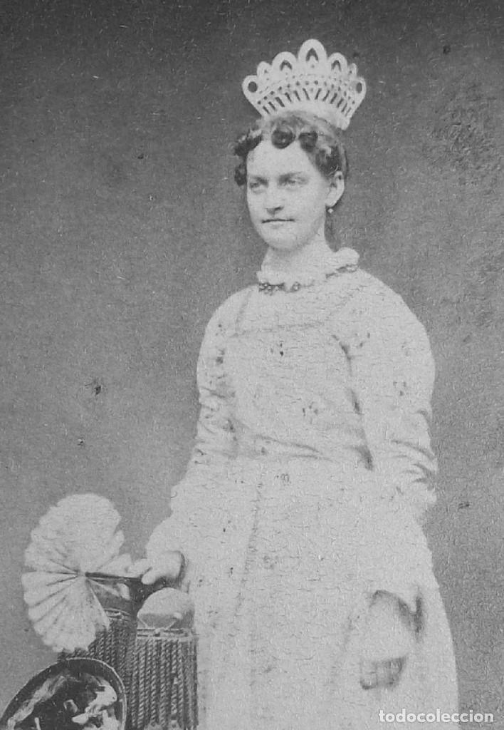 Antigüedades: Peineta de vaca de peine de pelo grande de 1870 a 1880 - Foto 10 - 120469459