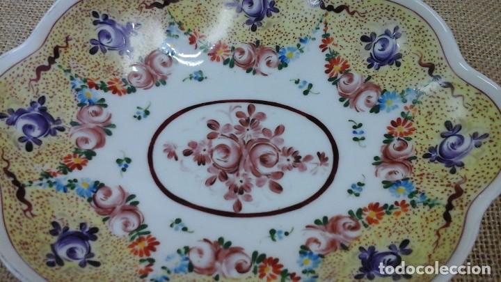 Antigüedades: Bandeja -despojador de Limoges , años 50 pintada a mano - Foto 2 - 120470595